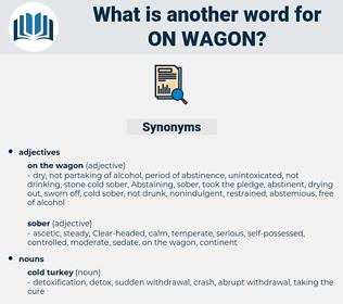 on wagon, synonym on wagon, another word for on wagon, words like on wagon, thesaurus on wagon