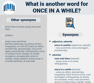 once in a while, synonym once in a while, another word for once in a while, words like once in a while, thesaurus once in a while