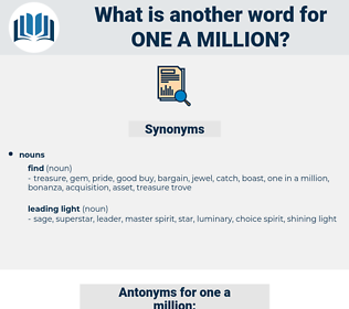 one a million, synonym one a million, another word for one a million, words like one a million, thesaurus one a million