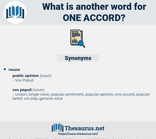one accord, synonym one accord, another word for one accord, words like one accord, thesaurus one accord