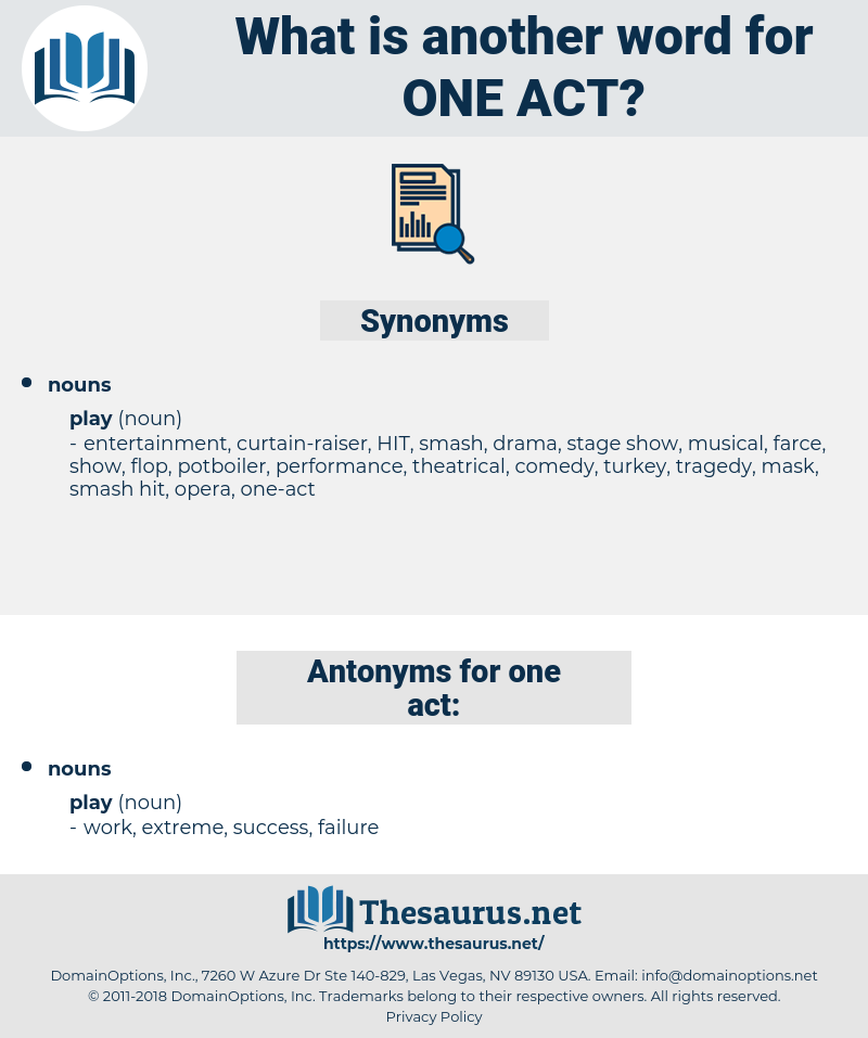 one-act, synonym one-act, another word for one-act, words like one-act, thesaurus one-act