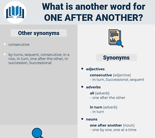 one after another, synonym one after another, another word for one after another, words like one after another, thesaurus one after another