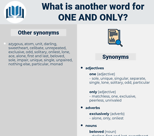 one and only, synonym one and only, another word for one and only, words like one and only, thesaurus one and only