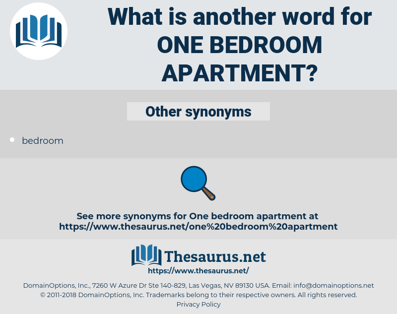 one bedroom apartment, synonym one bedroom apartment, another word for one bedroom apartment, words like one bedroom apartment, thesaurus one bedroom apartment