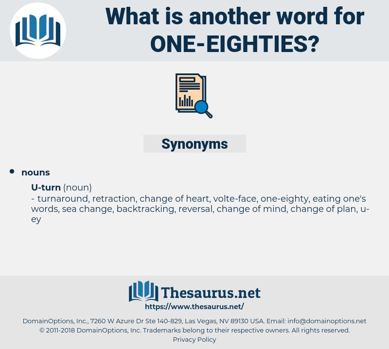 one-eighties, synonym one-eighties, another word for one-eighties, words like one-eighties, thesaurus one-eighties