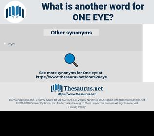 one eye, synonym one eye, another word for one eye, words like one eye, thesaurus one eye