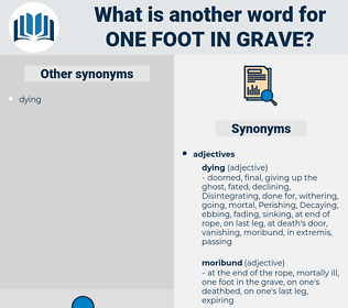 one foot in grave, synonym one foot in grave, another word for one foot in grave, words like one foot in grave, thesaurus one foot in grave