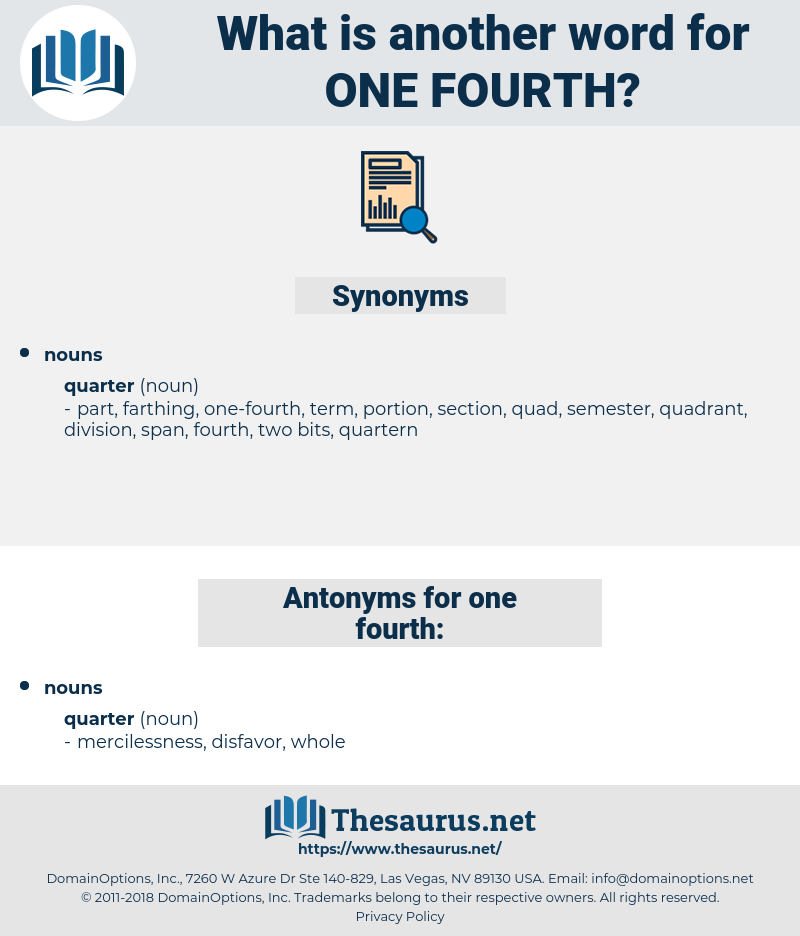 one-fourth, synonym one-fourth, another word for one-fourth, words like one-fourth, thesaurus one-fourth