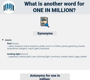 one in million, synonym one in million, another word for one in million, words like one in million, thesaurus one in million
