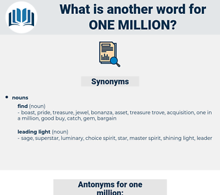 one million, synonym one million, another word for one million, words like one million, thesaurus one million