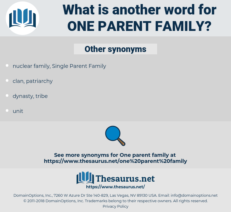one-parent family, synonym one-parent family, another word for one-parent family, words like one-parent family, thesaurus one-parent family