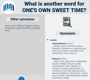one's own sweet time, synonym one's own sweet time, another word for one's own sweet time, words like one's own sweet time, thesaurus one's own sweet time