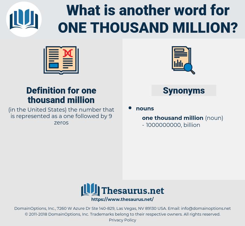 one thousand million, synonym one thousand million, another word for one thousand million, words like one thousand million, thesaurus one thousand million