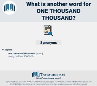 one thousand thousand, synonym one thousand thousand, another word for one thousand thousand, words like one thousand thousand, thesaurus one thousand thousand
