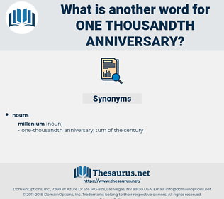 one-thousandth anniversary, synonym one-thousandth anniversary, another word for one-thousandth anniversary, words like one-thousandth anniversary, thesaurus one-thousandth anniversary