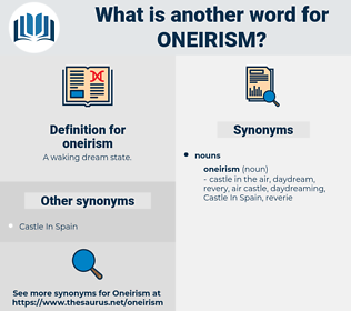 oneirism, synonym oneirism, another word for oneirism, words like oneirism, thesaurus oneirism