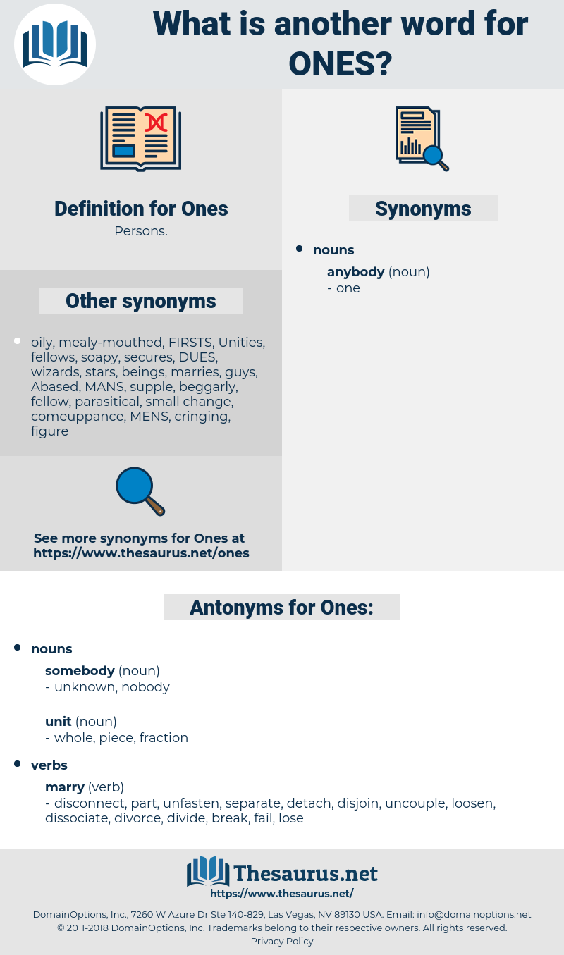 Ones, synonym Ones, another word for Ones, words like Ones, thesaurus Ones