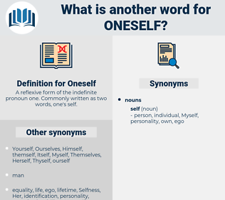 Oneself, synonym Oneself, another word for Oneself, words like Oneself, thesaurus Oneself