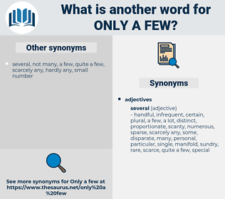 only a few, synonym only a few, another word for only a few, words like only a few, thesaurus only a few
