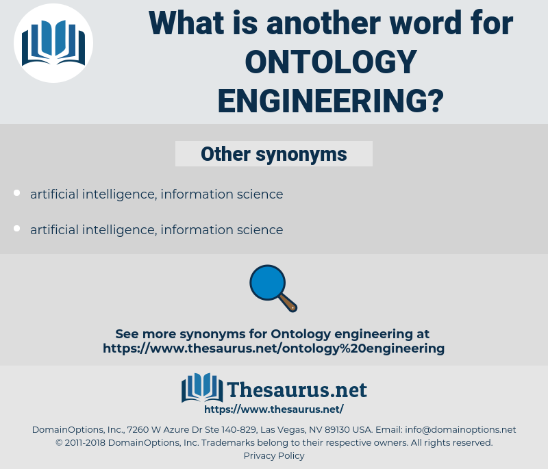 ontology engineering, synonym ontology engineering, another word for ontology engineering, words like ontology engineering, thesaurus ontology engineering