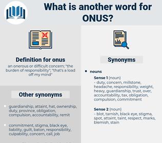 onus, synonym onus, another word for onus, words like onus, thesaurus onus
