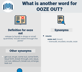 ooze out, synonym ooze out, another word for ooze out, words like ooze out, thesaurus ooze out