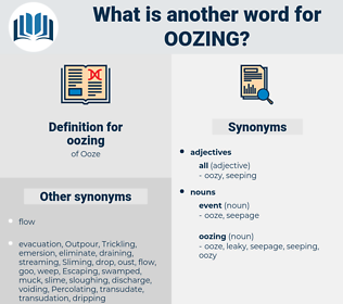 oozing, synonym oozing, another word for oozing, words like oozing, thesaurus oozing