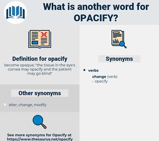 opacify, synonym opacify, another word for opacify, words like opacify, thesaurus opacify