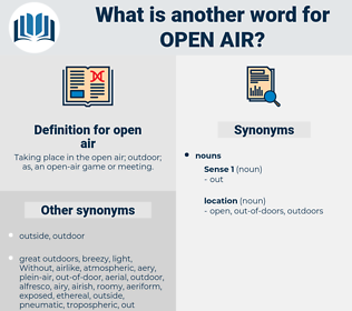 open air, synonym open air, another word for open air, words like open air, thesaurus open air