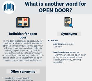 open door, synonym open door, another word for open door, words like open door, thesaurus open door