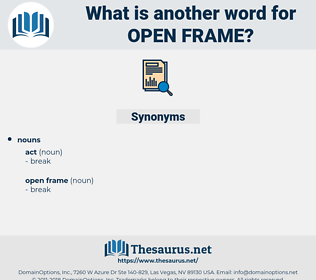 open frame, synonym open frame, another word for open frame, words like open frame, thesaurus open frame
