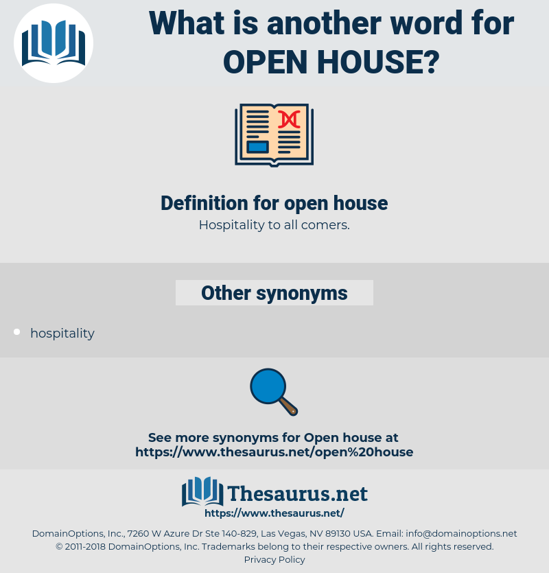open house, synonym open house, another word for open house, words like open house, thesaurus open house