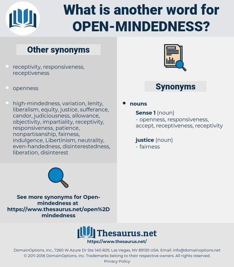 open-mindedness, synonym open-mindedness, another word for open-mindedness, words like open-mindedness, thesaurus open-mindedness