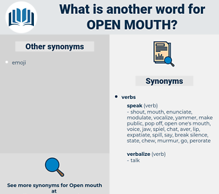 open mouth, synonym open mouth, another word for open mouth, words like open mouth, thesaurus open mouth