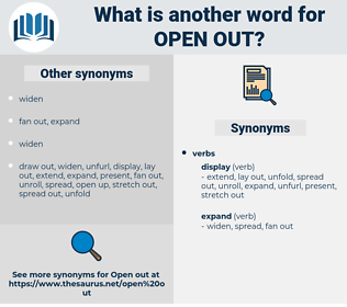 open out, synonym open out, another word for open out, words like open out, thesaurus open out
