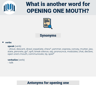 opening one mouth, synonym opening one mouth, another word for opening one mouth, words like opening one mouth, thesaurus opening one mouth
