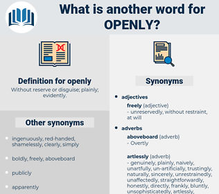 openly, synonym openly, another word for openly, words like openly, thesaurus openly