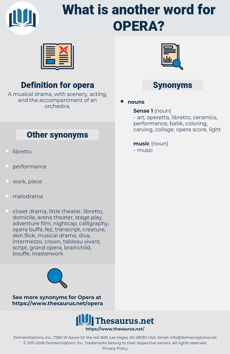 opera, synonym opera, another word for opera, words like opera, thesaurus opera