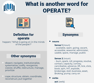 operate, synonym operate, another word for operate, words like operate, thesaurus operate