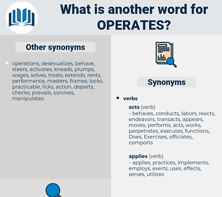 operates, synonym operates, another word for operates, words like operates, thesaurus operates