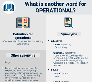 operational, synonym operational, another word for operational, words like operational, thesaurus operational