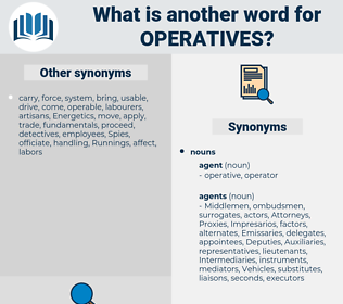 operatives, synonym operatives, another word for operatives, words like operatives, thesaurus operatives