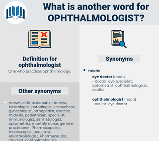 ophthalmologist, synonym ophthalmologist, another word for ophthalmologist, words like ophthalmologist, thesaurus ophthalmologist