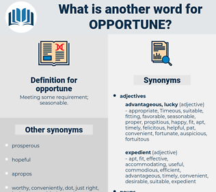 opportune, synonym opportune, another word for opportune, words like opportune, thesaurus opportune