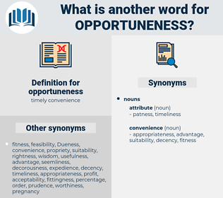 opportuneness, synonym opportuneness, another word for opportuneness, words like opportuneness, thesaurus opportuneness
