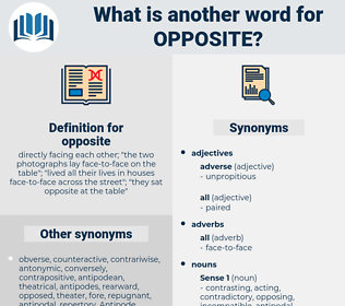 opposite, synonym opposite, another word for opposite, words like opposite, thesaurus opposite