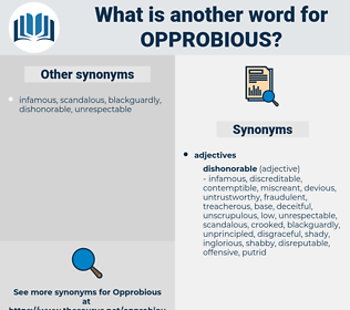 opprobious, synonym opprobious, another word for opprobious, words like opprobious, thesaurus opprobious