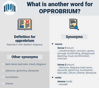 opprobrium, synonym opprobrium, another word for opprobrium, words like opprobrium, thesaurus opprobrium