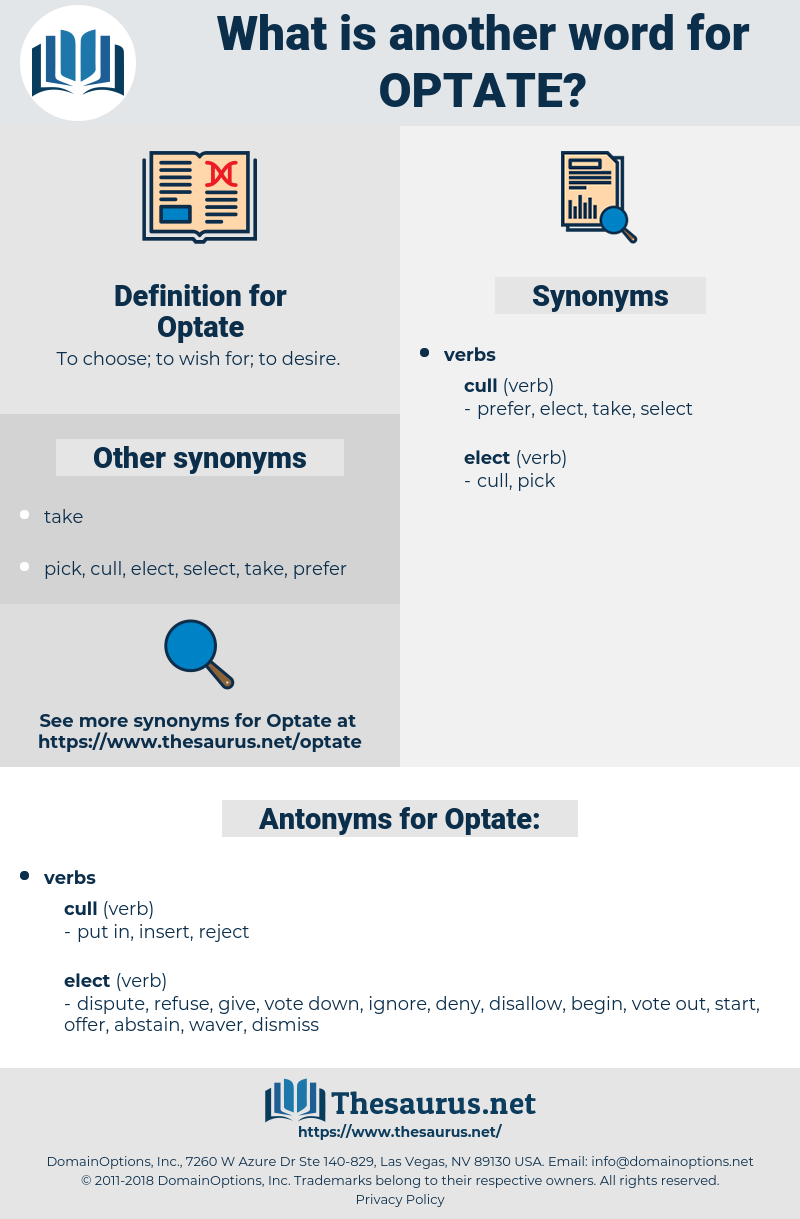 Optate, synonym Optate, another word for Optate, words like Optate, thesaurus Optate