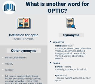 optic, synonym optic, another word for optic, words like optic, thesaurus optic
